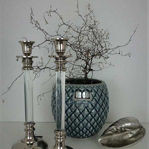 moderner kerzenleuchter glas